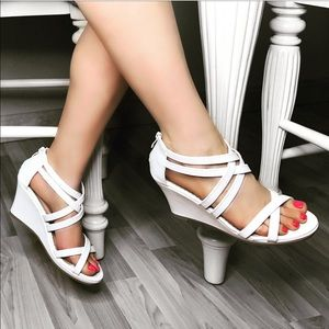 White Sandal Wedges